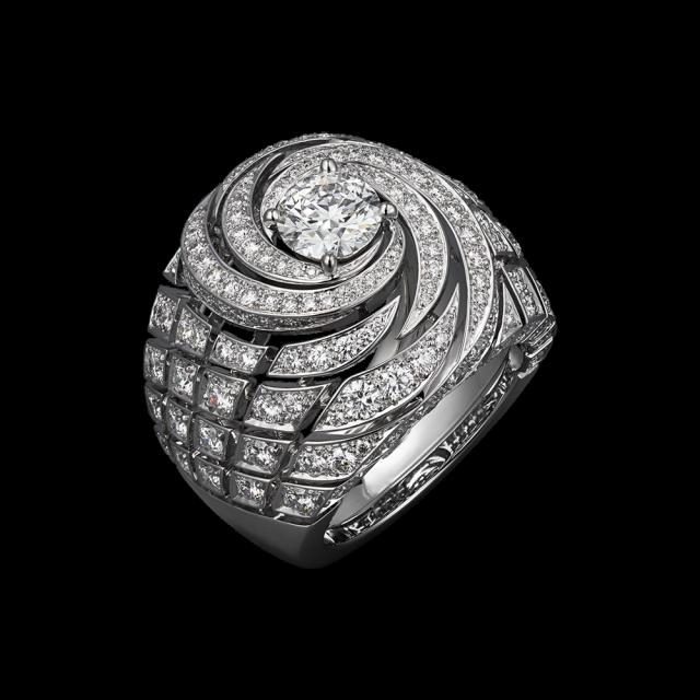 anello cartier con diamanti in platino