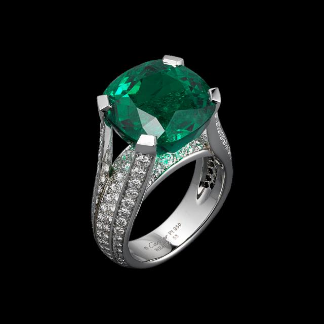 cartier anello smeraldo
