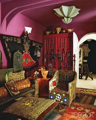 interior-design- arredamento stile Marocco