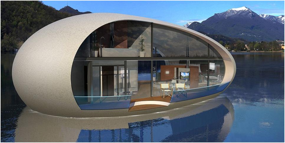 Casa di lusso galleggiante gioiello di design for Piani di case di lusso