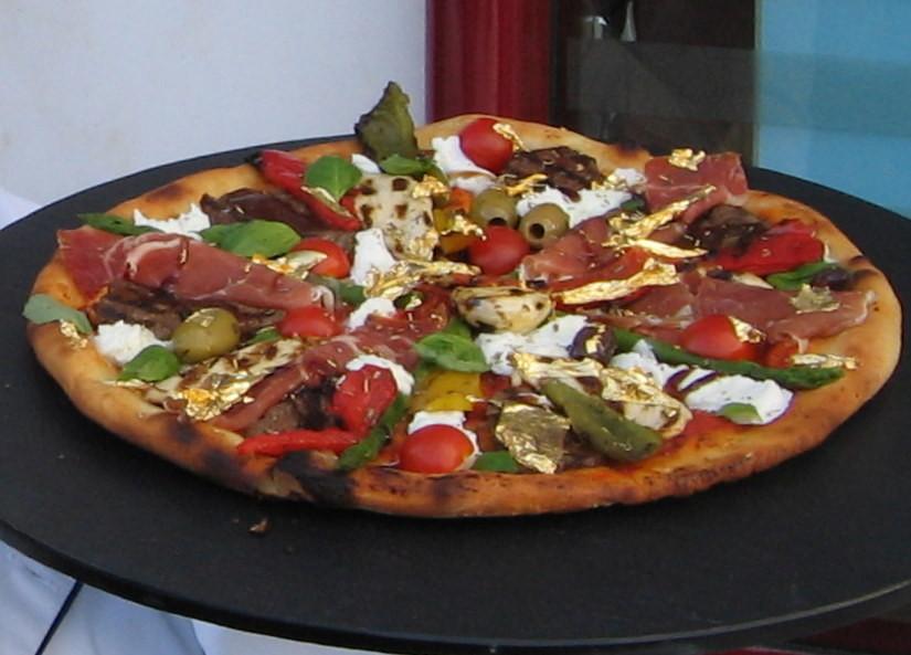 Pizza foglia d'oro
