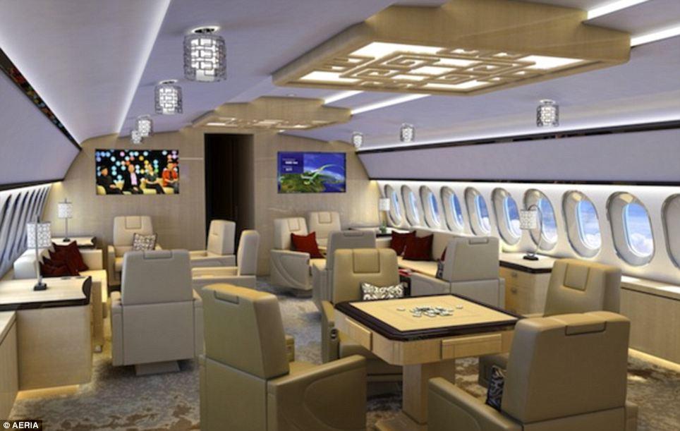 sala riunion jet di lusso