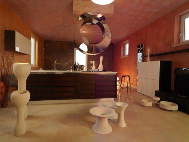 Oggetti di design per una cucina di lusso confortevole